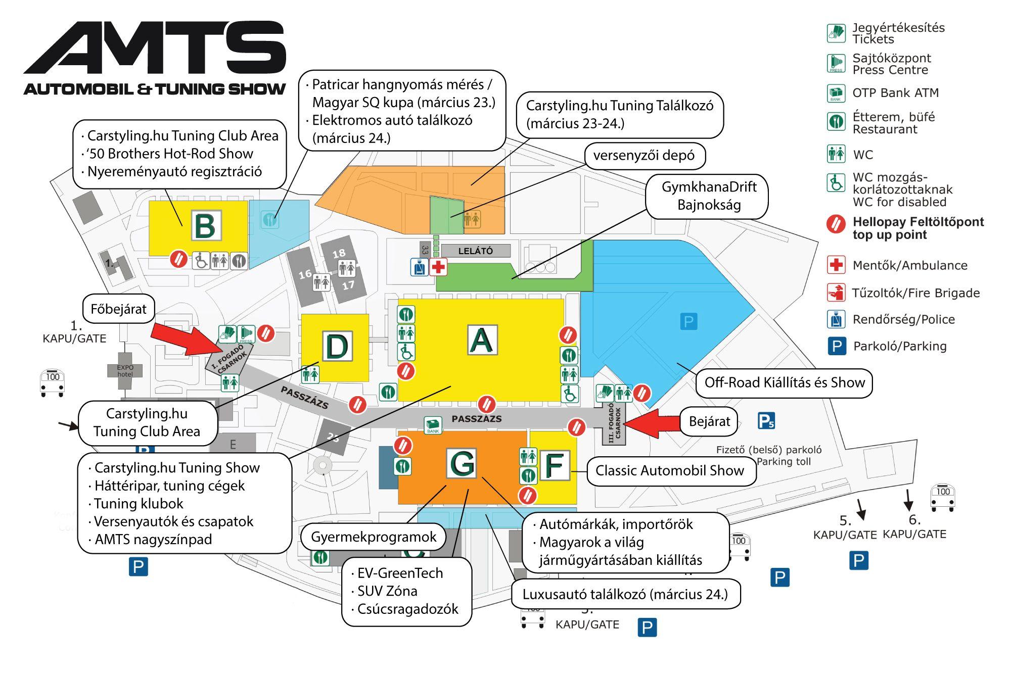 AMTS - térkép, helyszín